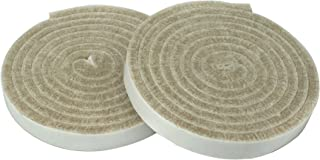 Smart Surface 8773 Heavy Duty 1/2-Inch by 60-Inch Self Adhesive Furniture Felt Strips Rolls Oatmeal 2-Piece Value Pack