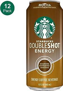 Starbucks, Doubleshot Energy Coffee, Mocha, 15 Fl Oz (Pack of 12)