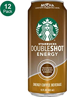 Starbucks, Doubleshot Energy Coffee, Mocha, 15 Fl Oz (Pack of 12)