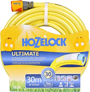 Hozelock 7830P9130 Ultimate Knitted Garden Hose, Yellow