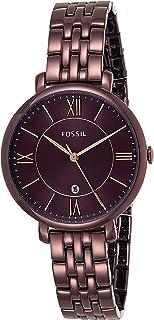 Fossil Women's Jacqueline Quartz Stainless Steel Dress Watch Color: Purple