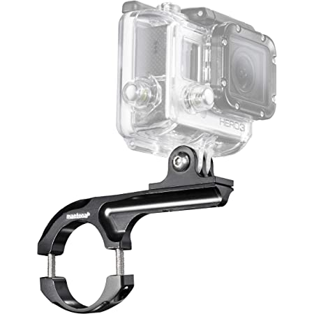 Mantona 20549 Fahrradhalterung Maxi Aluminium Blau Kamera