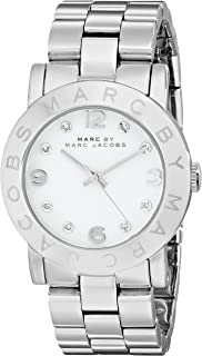 Marc by Marc Jacobs Amy Women's White Dial Stainless Steel Band Watch - MBM3054