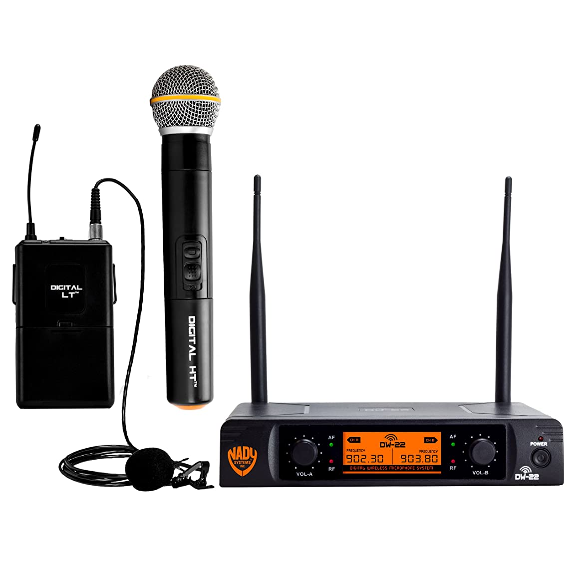 Nady Wireless Microphone System, Dual Transmitter (DW-22-HT-LT)