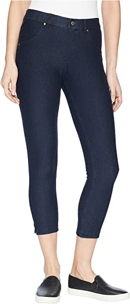 HUE - Ankle Slit Essential Denim Capris