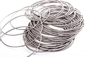 Guitar String Coil Bracelet for Girls + Women | Stainless Steel Stackable Spiral Bangle Bracelets with Free Organza Pouch