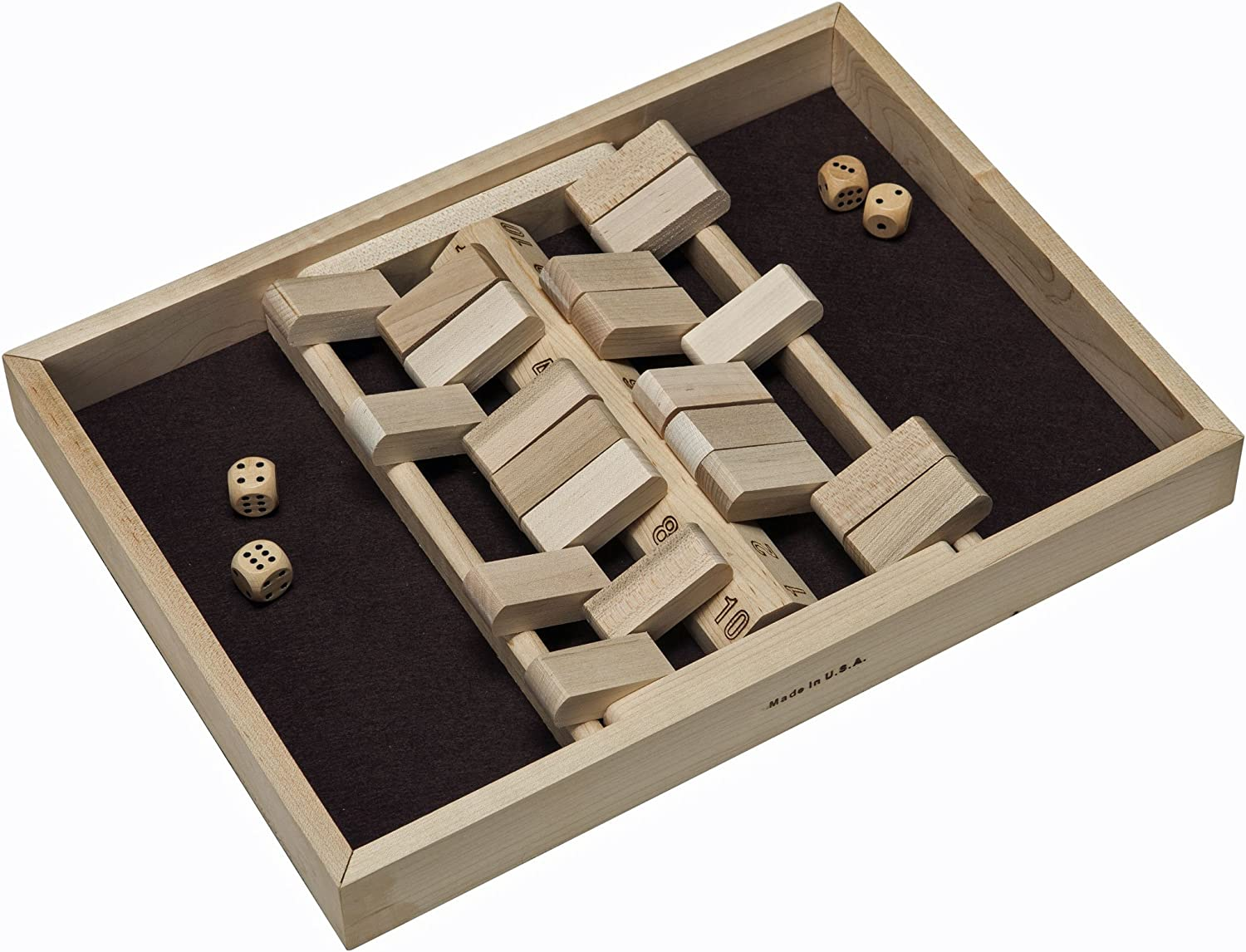 WE Games Double Sided [ギフト/プレゼント/ご褒美] 2 Player Wooden the Shut with 格安激安 Box Numbe 10