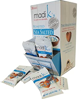 Madi K's Almonds, Sea Salt, 31 Count (Pack of 31)
