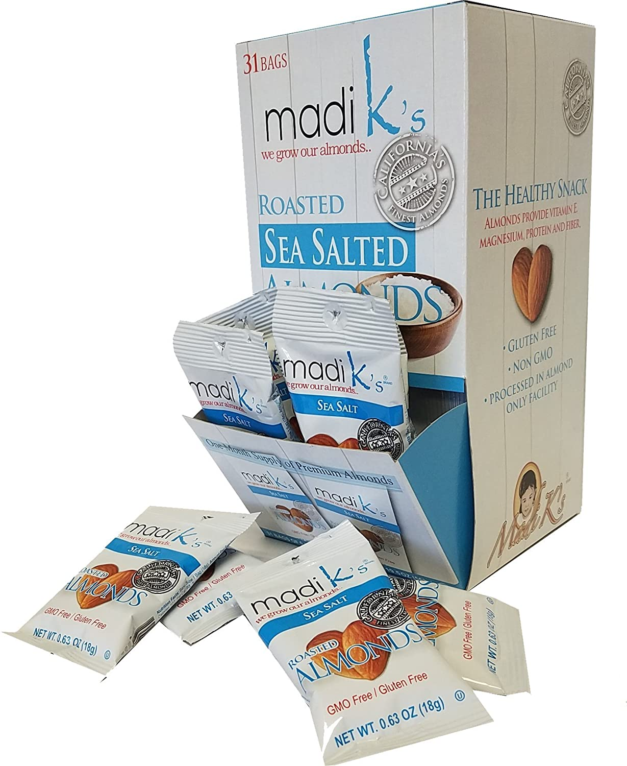 Madi K's Almonds Sea security Salt of Pack Super sale period limited 31 Count
