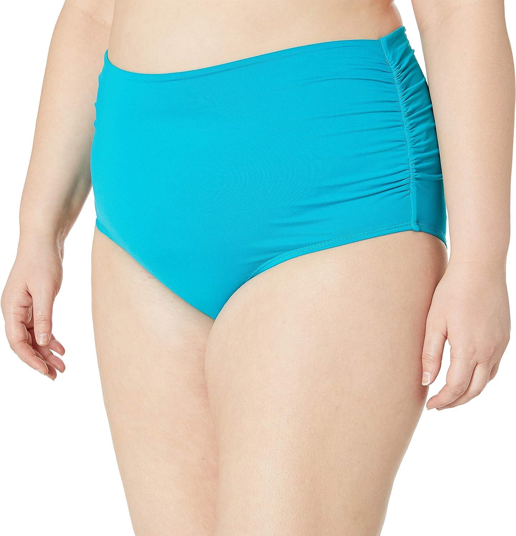 Anne Cole Women's Plus Size High Waist Fold Over Double Lined Bikini Swim Bottom