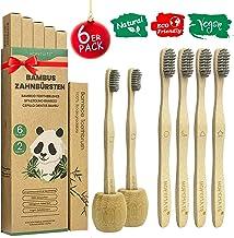 Cepillo Dientes Bambu Paquete de 6 + 2 Portacepillos de
