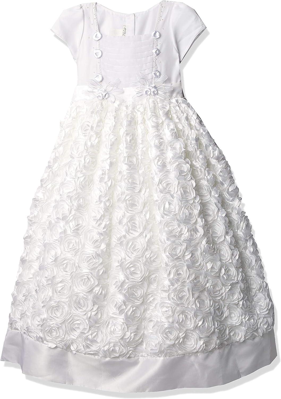 Pretty Me, USA Girls' Cap Sleeve Flower Communion Dress