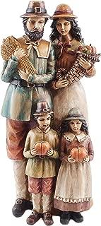 Caffco Pilgrim Family Thanksgiving Harvest Figurine