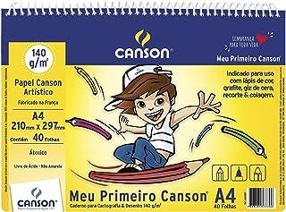 Caderno Meu Primeiro Desenho A4 140g/m², Canson, 66667087, Branco natural, 40 Folhas
