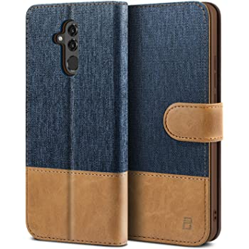 Custodia per Huawei Mate 20 Lite in tessuto libro portafoglio chiusura magnetica