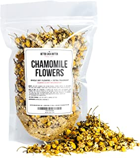 Chamomile Whole Flowers for Tea, Baking, Crafts, Sachets, Baths, Oil Infusions - 4oz in Resealable, Recyclable Pouch - by ...