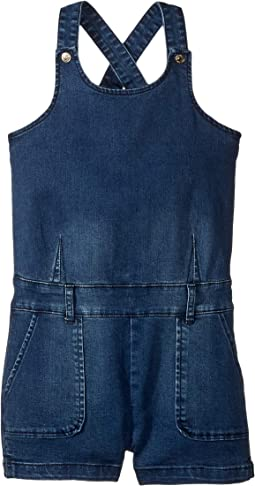 Stretch Denim Shortall (Big Kids)