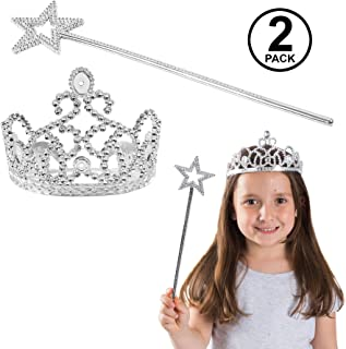 Funny Party Hats Princess Dress Up Set - Tiara & Wands - Princess Costume Accessories for Girls