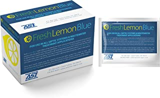 Fresh Lemon Blue Septic Tank System Treatment - Contains All Natural & Safe Enzymes And Bacteria 12 packets