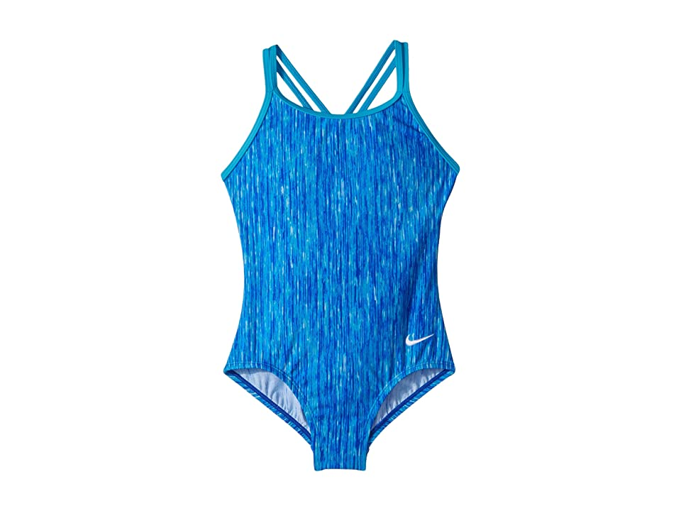 Nike Kids Rush Heather Spiderback One-Piece (Little Kids/Big Kids) (Racer Blue) Girl