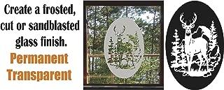 Deer Buck Hunting DIY Etched Glass Vinyl Privacy Film Glass Door Decals Sliding Door Decal Door Stickers Window Sticker