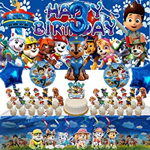 Paw Patrol 3rd Party Supplies | Banner | For Boys | Third | Three | Decorations | Favors | Balloons | Backdrop | Birthday | Set | Decor