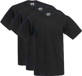 DREAM USA Men's 3-Pack Heavyweight Cotton Short Sleeve Crew Neck T-Shirt
