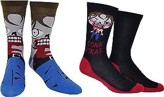 The Walking Dead Socks Merchandise (2 Pair) - (1 Size) The Walking Dead Gifts Walker Crew Socks Women & Men's
