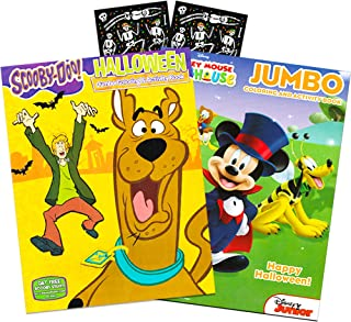 Scooby-Doo and Mickey Mouse Halloween Coloring and Activity Book Set with Stickers