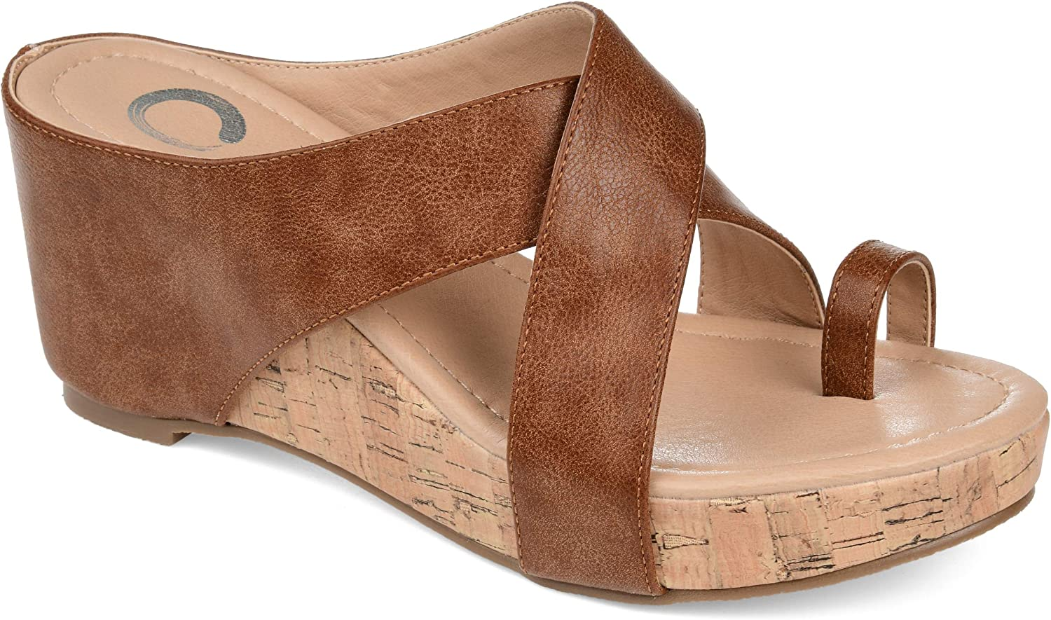 Journee discount Our shop OFFers the best service Collection Womens Rayna Sandal Wedge