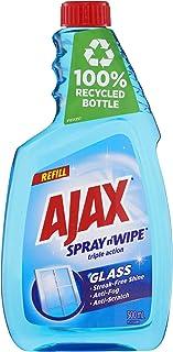 Ajax Spray n' Wipe Triple Action Glass Cleaner Anti Streak Anti Fog Anti Scratch Refill Value Pack Made in Australia 500mL