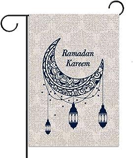 فانوس رمضان كريم حديقة العلم الإسلامي القمر عمودي مزدوج الحجم الفناء الديكور الخارجي