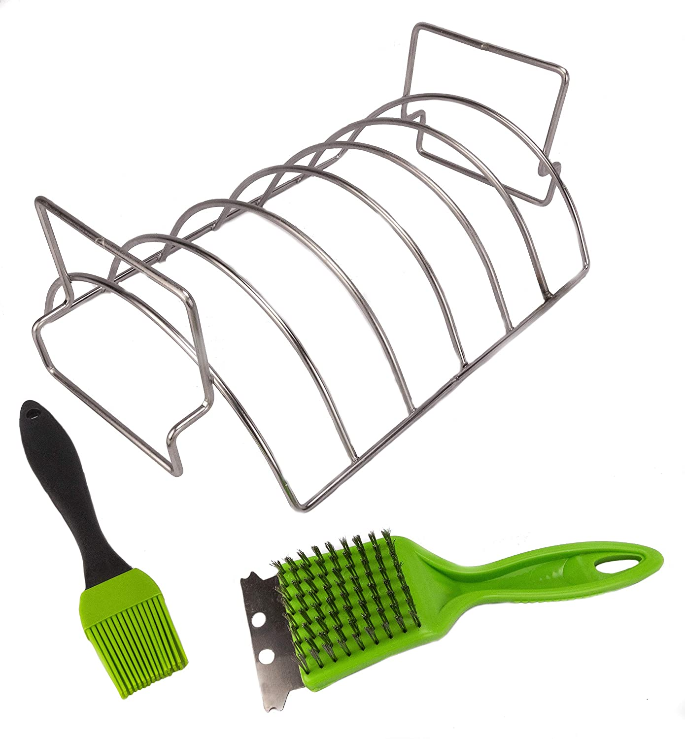 J-Line Classic Design Max 83% OFF Rib Grilling Roasting Rack Re and - for Smoker BBQ