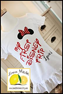 My First Disney Trip shirt for girl with name