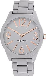 Nine West NW/1678GYRG Watchme Reloj de pulsera de cuarzo japonés, con visualización analógica, color gris, para mujer