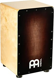 Meinl Cajon Box Drum with Internal Strings for Snare Effect - NOT MADE IN CHINA - Espresso Burst Frontplate / Baltic Birch Body, Woodcraft Series, 2-YEAR WARRANTY (WC100EB)