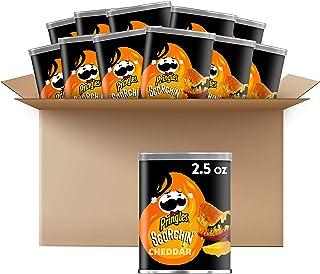 Pringles Scorchin', Potato Crisps Chips, Cheddar, Snacks On the Go, 2.5oz Can(Pack of 12)