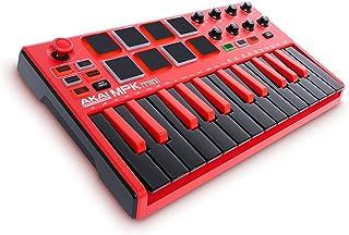 AKAI Professional MPK Mini MKII LE Red - Teclado portátil USB-MIDI de 25 teclas con 8 pads retro-iluminados, color Rojo