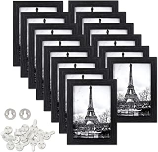 upsimples 4x6 Picture Frames Made of Composite Wood High Definition Glass for Wall or Tabletop Display,Black Photo Frame,14 Pack