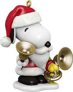 Hallmark Keepsake Christmas Ornament 2018 Year Dated, Peanuts Spotlight on Snoopy Bell-Ringer Snoopy