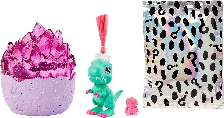 Cave Club huevos de dinosaurios con muñeca y accesorios para niños y niñas +4 años (Mattel GNL97)