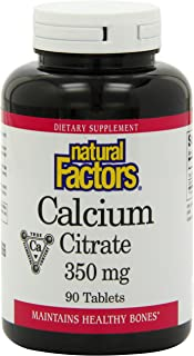 Natural Factors Calcium Citrate 350 mg - 90 Tablets