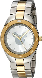 Disney Men's W001902 Mickey Mouse Analog Display Analog Quartz Two Tone Watch