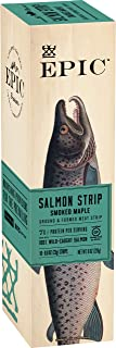 EPIC Smoked Salmon Strips, Wild Caught, 10 Count Box 0.8oz strips