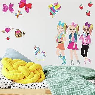 RoomMates RMK4253SCS JoJo Siwa Cartoon Peel and Stick Wall Decals, Pink, Blue, Yellow