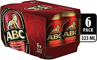 ABC Extra Stout Beer Can, 323ml (Pack of 6)