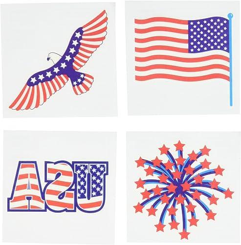 tienda de venta Amscan Star Spangled 4th of July Patriotic Stars Stars Stars & Stripes Tattoos (24 Piece), Multi Color, 4.5 x 5.7 by Amscan  alta calidad
