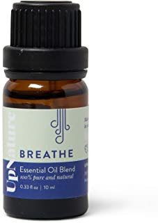 Breathe Essential Oil Blend - 100% Pure And Potent Essential Oil - Opens Sinuses - Breathe Easy For Allergy & Sinus Relief - Peppermint & Eucalyptus Oil Blend For Diffuser Aromatherapy & Topical Use