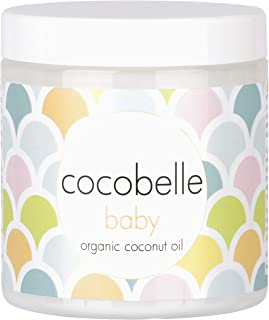 Cocobelle Baby Pure & Gentle Premium 100% Organic Virgin Coconut Oil for Babies – Perfect for Dry Skin, Eczema, Scalp/Crad...
