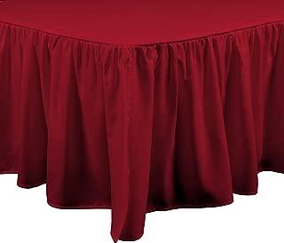 Brielle Essentials Bedskirt, Full, Red